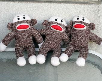 Baby Brown Cute Sock Monkeys