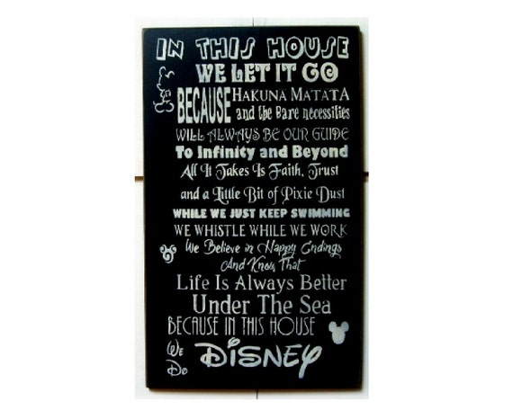 In This House We Do Disney Wood Sign