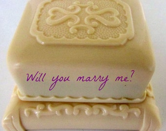 Vintage  Art Deco Jewelry Box Ring Box Engagement ring box Celluloid