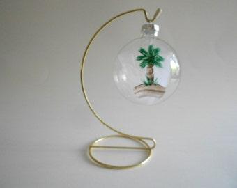 Palm Tree Hand Painted Ball Christmas Ornament Glass Ball Ornament Suncatcher Home Decor Tree Ornament Palm Tree Ornament Holiday Ornament