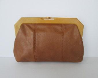 Mini Leather Clutch Bag