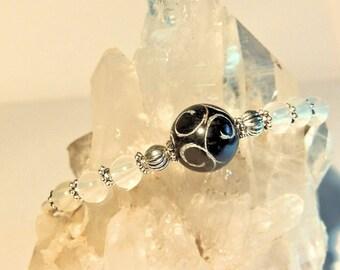 UV Sensitive Bangle Bracelet, Soapstone Bracelet, Handcrafted Jewelry, Color Changing, Memory Wire Bangle Bracelet, One Size Fits Most