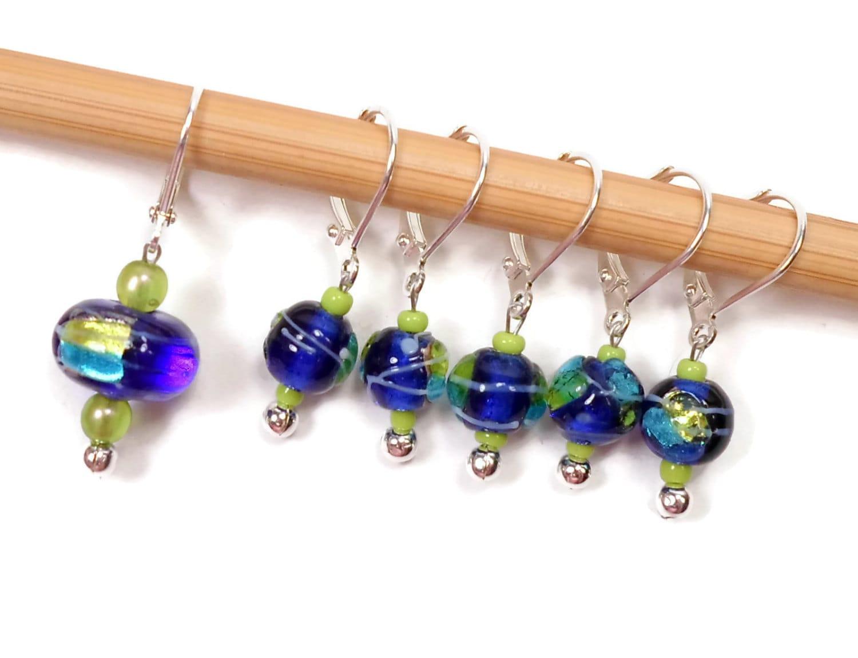 Knitting Locking Stitch Markers : Locking Removable Stitch Markers Crochet Row Markers Cobalt