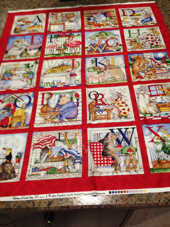 Fabric Panel For Alphabet Child S Quilt