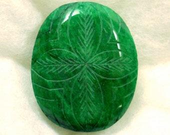 357.5 carat  ...  carved emerald gemstone ... 51 x 41 x 20 MM