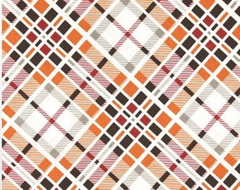 Free Spirit - Denise Schmidt - Florence - Multi Plaid in Carnelian - Half Yard Cotton Fabric