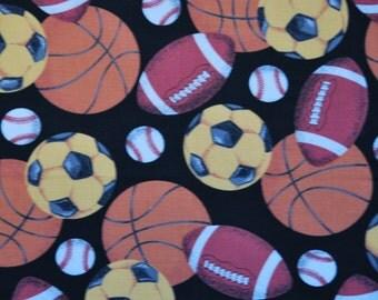 Vintage Sports Balls Print Princess Fabrics Inc.
