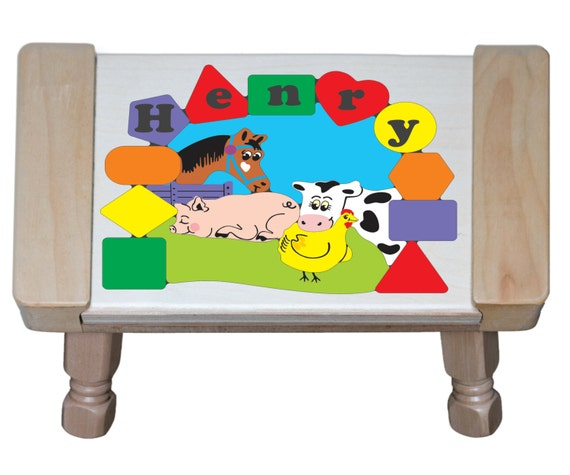 Personalized Name Farm Animals Cow Pig Chicken By