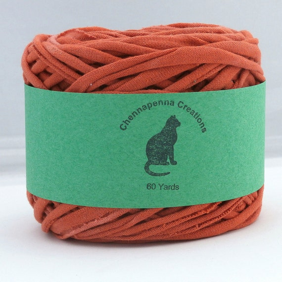 T shirt yarn hand dyed terra cotta red brown 60 yards for T shirt printing st charles mo