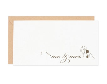 Mr. & Mrs. Enclosure Gift Card