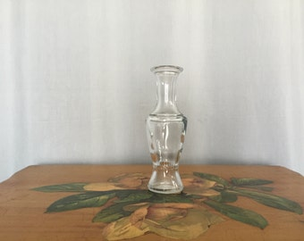 Glass Bud Vase Small Floral Vintage