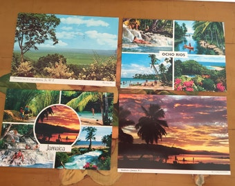 Jamaica Postcards Vintage Souvenir Photos Travel USA set of 4 Beach Vacation