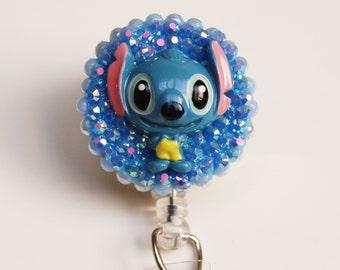 Disney's Stitch From Lilo And Stitch ID Badge Reel - ID Badge Holder - Zipperedheart