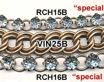8mm CRYSTAL RHINESTONE LINKAGE--fABULOUS!