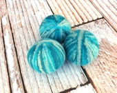 Felted Wool Dryer Balls - Felted Wool Laundry Balls - Eco-Friendly Laundry Balls - Chemical Free Laundry - cat toy - Waldorf Toy