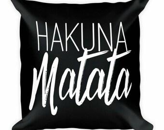 Hakuna Matata Pillow w/ Insert Throw Pillows | Accent Pillows | Home Decor | Nursery Room Decor   | Lion King  |