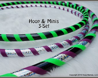 3-Pack Set - Custom Hula HOOP & MINI TWINS. Any Tubings, Colors and Sizes.