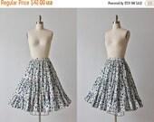 SALE 1950s Circle Skirt / 50s Skirt / Swing Skirt / Tiered Skirt / Polka Dots