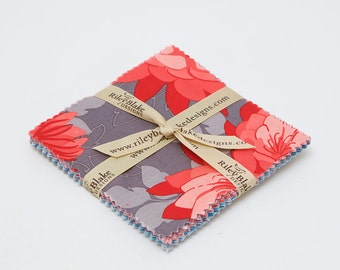 SUMMER SALE - 42 squares - 5 inch stacker - Desert Bloom - Amanda Herring - Riley Blake Designs