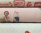 Set of 3, Riley Blake fabrics, Tasha Noel, your choice of cut (fat quarter, half yard, or yard cut)