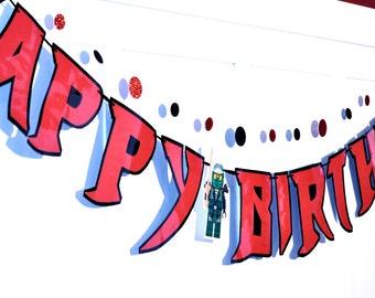 Ninja BIRTHDAY Banner, Ninja Birthday Party, Ninja Party Supplies, HAPPY BIRTHDAY Banner, Ninja Party Banner, Ninja Banner, Karate Banner