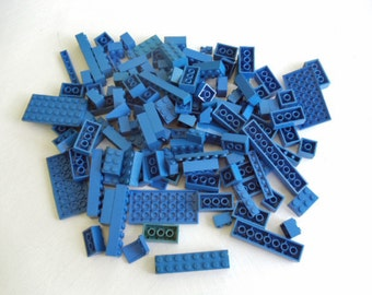 Lego Bricks, lot of BLUE bricks