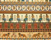 RESERVED FOR CAROL - Egyptian Fabric  Timeless  Treasures Tut Stripe - 1997 - 1 Yard - Very Rare - #E14