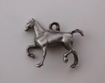 Vintage Sterling Silver Horse Charm