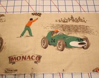 Vintage automobile race fabric lot - DESTASH