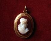 Antique cameo photo locket
