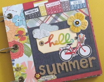 Hello Summer Premade Scrapbook Album