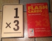 1963 Multiplication Flash Cards by Milton Bradley in the Original Box