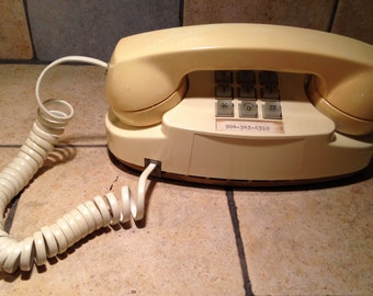 1983 White Princess Touch Tone Telephone