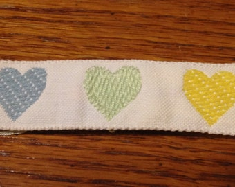 3 Yards of Pastel Heart Ribbon Trim for Children