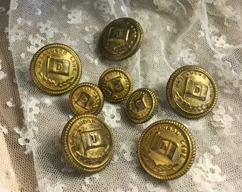 The Donaldson Line Ships Uniform Brass Buttons Nutting & Kent London
