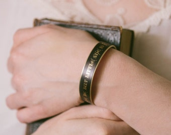 She Is Fierce - Shakespeare Quote - Shakespeare Bracelet - Midsummer Night's Dream Cuff - Gifts For Women - Sister Mom Daughter Aunt Gift