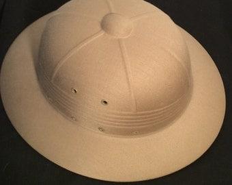 Vintage Safari style hard Sun Helmet