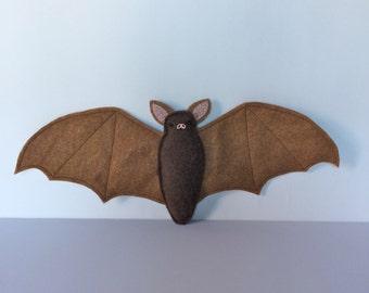 Brown Bat Plush - MADE TO ORDER - Halloween - Nocturnal