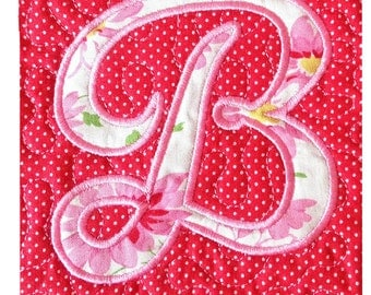 Monogrammed Applique Coaster