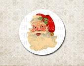 Stickers Christmas Santa - Santa Party Favor Treat Bag Stickers CSP005