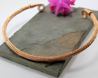Viking Knit Neck Torc - Bronze, Celtic Torq or Torque