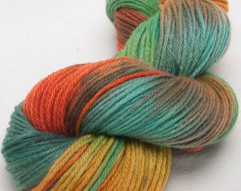 Hand dyed Bluefaced Leicester BFL Hand painted DK yarn 100g skein Charnwood