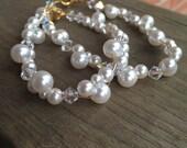 RESERVED for Ashley: Mother & Daughter pearl bracelets
