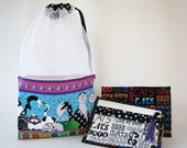 Cats Cats Cats! Special Edition 2-piece Set At-A-Glance Knitting/Crochet/Spinning Project Bags Large & Zippered Pouch