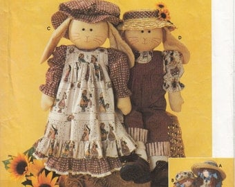 Simplicity Sewing Pattern 7142 Rag doll or bunny pattern and clothes