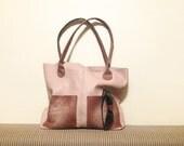 "leather tote – ooak handmade fashion bag - bag with pockets - genuine leather bag ""GIOVANNA"""
