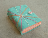 Teal Orange Explosion String Theory Softcover Journal