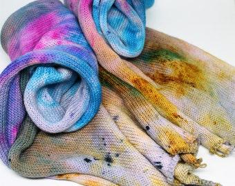 Hand Dyed Sock Yarn - Sock Blank - Superwash Merino Nylon - 463 yards - Chimera