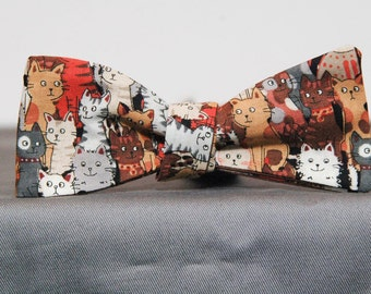 Multiple Cool Cats Bow Tie