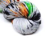"Acoustic Sock Yarn - ""Devil's Night"" - Handpainted Superwash Merino - 400 Yards"